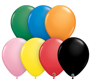 Qualatex 16 inch standard balloons in assorted colours