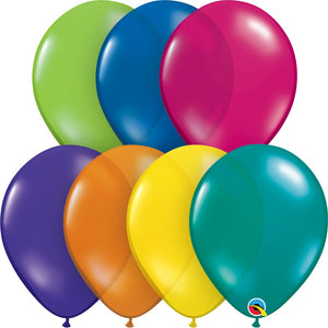 "Assorted Qualatex 11"" round jewel tone balloons"