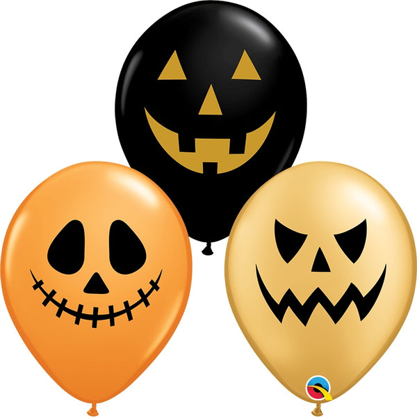Qualatex 11 Jack Faces Halloween Assortment