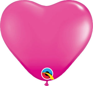 Qualatex 15 inch heart standard balloons in wild berry