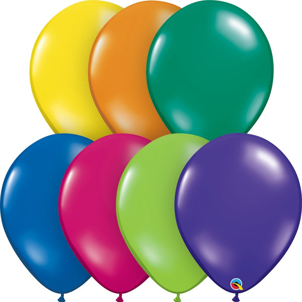 "Assorted Qualatex 16"" round jewel tone balloons"