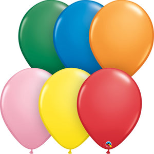 "Assorted Qualatex 16"" round standard balloons"