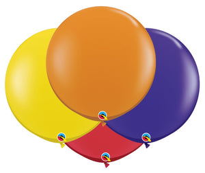 Qualatex 36 inch jewel tone balloons in assorted colours