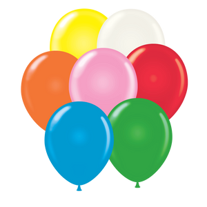"Open image in slideshow, Assorted Tuftex 11"" round standard balloons"