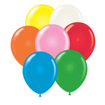 "Assorted Tuf-tex 14"" round standard balloons"
