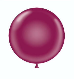 Open image in slideshow, Tuftex 24 inch crystal balloons in burgundy