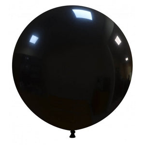 "Open image in slideshow, Cattex 19"" round standard balloons in black"