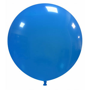 "Open image in slideshow, Cattex 19"" round standard balloons in mid blue"