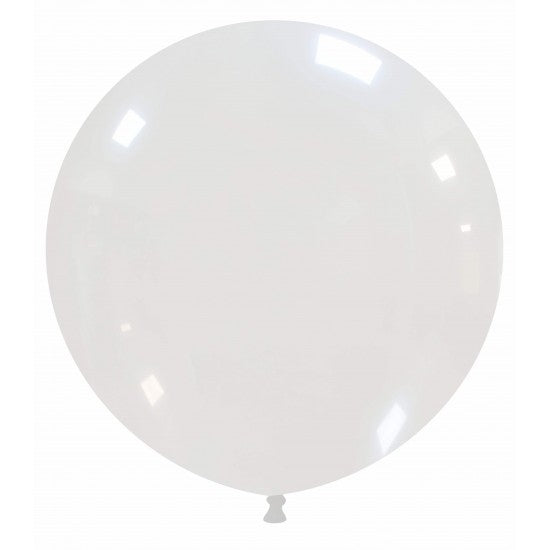 "Cattex 19"" round crystal balloons in clear"