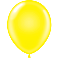 Tuf-tex 14 inch standard balloons in yellow