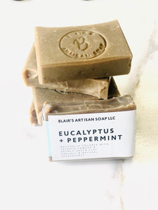 EUCALYPTUS + PEPPERMINT SOAP