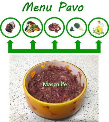 MENU COMPLETO PAVO (100% NATURAL)