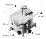 12-Inch Commercial Semi-Auto Stainless Steel Meat Slicer