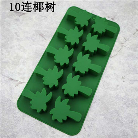 10 coconut tree cake mold