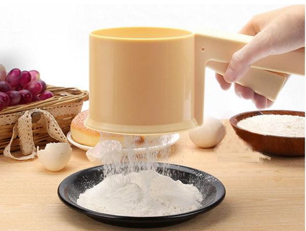 Hand Cup Flour Sieve With Bottom Cover
