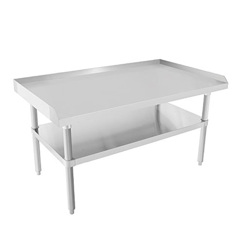 Commercial Kitchen Prep & Worktable - KITMA Stainless Steel Equipment Stand with Undershelf for Restaurant - 36x28 Inches