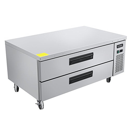 Commercial 2 Drawer Refrigerated Chef Base - KITMA 60 Inches Stainless Steel Chef Base Work Table Refrigerator - Kitchen Equipment Stand, 33 °F - 38°F