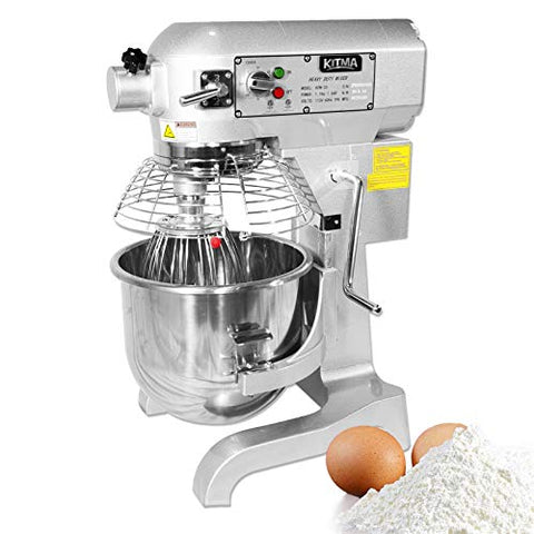 Professional 20 Liters Heavy Duty Floor Mixer - Kitma 3 Speeds Kitchen Stand Mixer with Stainless Steel Bowl, Dough Hooks, Whisk, Beater, Only Ship to CA, NV, AZ