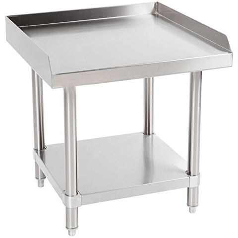 Commercial Kitchen Prep & Worktable - KITMA Stainless Steel Equipment Stand with Undershelf for Restaurant - 24x28 Inches