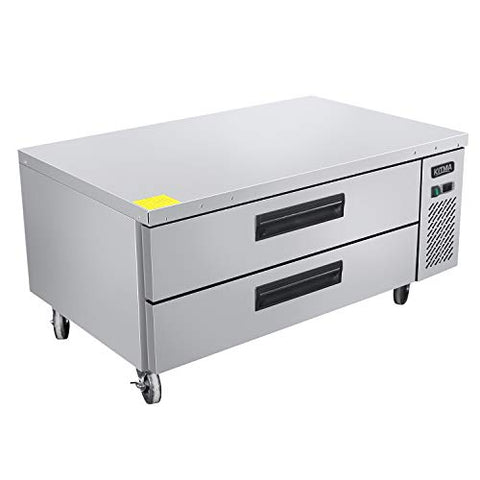 Commercial 2 Drawer Refrigerated Chef Base - KITMA 52 Inches Stainless Steel Chef Base Work Table Refrigerator - Kitchen Equipment Stand, 33 °F - 38°F