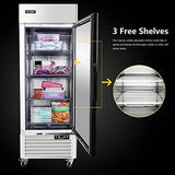 Single Door Commercial Refrigerator - Stainless Steel Reach-In Refridgerator 23 Cu. Ft