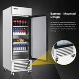 Commercial Upright Merchandiser Refrigerator - KITMA 19.1 Cu.Ft 2 Glass Doors Display Beverage Cooler with LED Lighting, 33°F - 38°F
