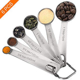 Measuring Spoons, Set of 6 for Gift Measuring Dry and Liquid Ingredients
