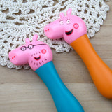 Stainless Steel Children Cartoon Pink Pig Piggy Western Fork and Spoon Set