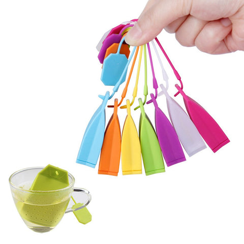 10 Pack Reusable Silicone Tea Bags with Long Rope