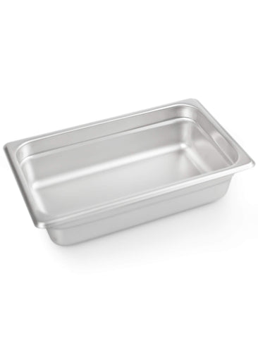 "2 1/2"" Deep Steam Table Pan 1/4 Size ,1.8 Quart Stainless Steel Anti-Jam Standard Weight Hotel GN Food Pans - NSF (10.83""L x 6.77""W)"