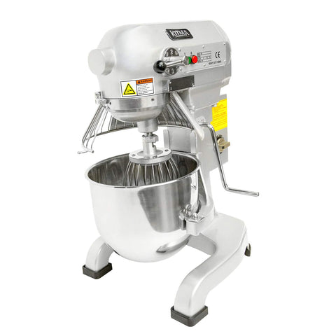 Professional 10 Liters Heavy Duty Stand Mixer - Kitma 750W 3 Speed Floor Mixer with Stainless Steel Bowel, Dough Hooks, Whisk, Beater, Safety Guard, Only Ship to CA, NV, AZ