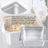 "6"" Deep Perforated Steam Table Pan Half Size, Kitma 10 Quart Stainless Steel Anti-Jam Standard Weight Hotel GN Food Pans - NSF (12.8""L x 10.43""W) - 6 Pack"