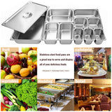 "6"" Deep Steam Table Pan Full Size, Kitma 21 Quart Stainless Steel Anti-Jam Standard Weight Hotel GN Food Pans - NSF (20.87""L x 12.8""W)- 6 Pack"