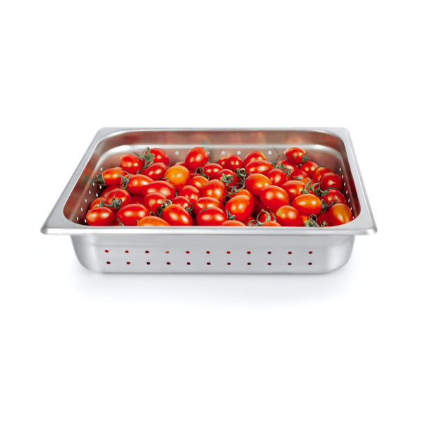 "2 1/2"" Deep Steam Table Pan Half Size ,Kitma 4 Quart Stainless Steel Anti-Jam Standard Weight Hotel GN Food Pans - NSF (13.19""L x 10.83""W)"