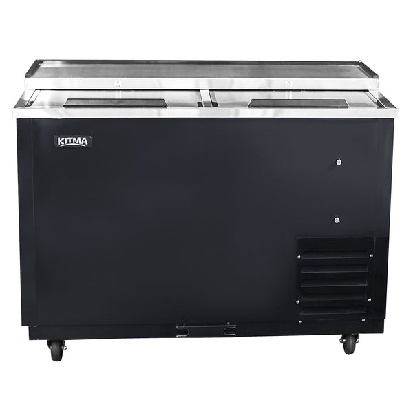 Commercial Deep Well Horizontal Bottle Cooler - KITMA 65 Inches Beer Coolers for Bottles for Restaurant Bar, 33°F - 38°F