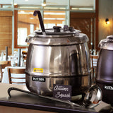 Kitma 10 Qt Electric Soup Warmer, Countertop Stainless Steel Food Kettle Warmer, 120V, 400W