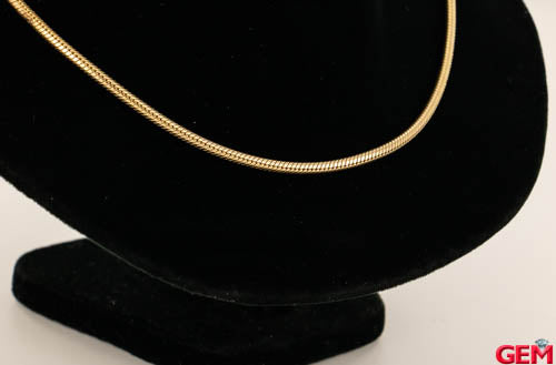 Pandora 14k 585 Yellow Gold ALE Charm Barrel Clasp Necklace Chain SOLD OUT - Pre-Owned for sale at Gem Pawn