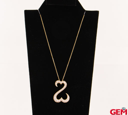 Solid Kays Jane Seymour Yellow Gold 585 Diamond Necklace Chain 14k Pendant - Pre-Owned for sale at Gem Pawn