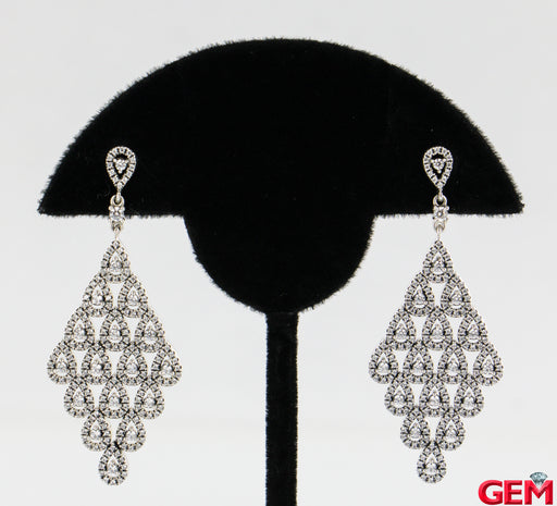 Pandora Cascading Glamour Sterling Silver 925 Cz Drop Earrings - Pre-Owned for sale at Gem Pawn