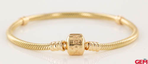 "Pandora Solid 14k 585 ALE Yellow Gold 7.1"" 18cm Moments Charm Bracelet - Pre-Owned for sale at Gem Pawn"