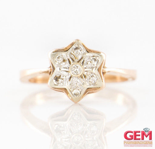14 KT Rose White Gold Diamond Star Ring - Pre-Owned for sale at Gem Pawn