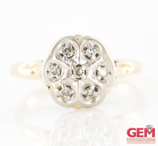 14 KT Yellow Gold Diamond Cluster Ring - Pre-Owned for sale at Gem Pawn