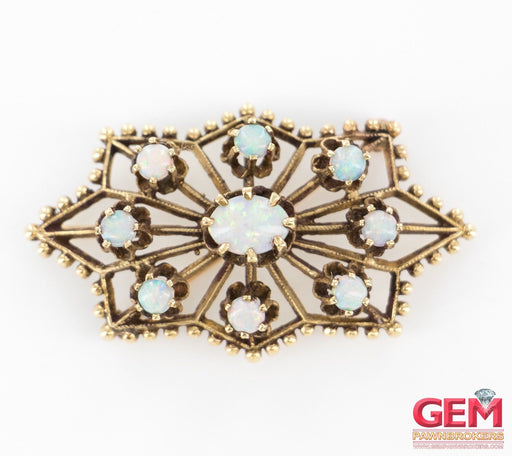 14 KT Yellow Gold Opal Lapel Pin Brooch Antique - Pre-Owned for sale at Gem Pawn