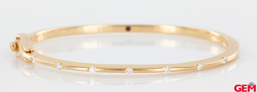 "Roberto Coin 18k 750 Rose Gold Ruby Diamond Parisienne Bangle Bracelet 6"" - Pre-Owned for sale at Gem Pawn"