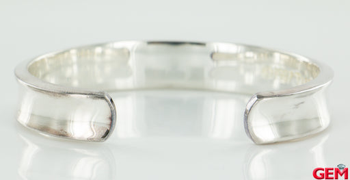"Tiffany & Co 1837 925 Sterling Silver 11mm Wide 6.5"" Bracelet Cuff Bangle - Pre-Owned for sale at Gem Pawn"
