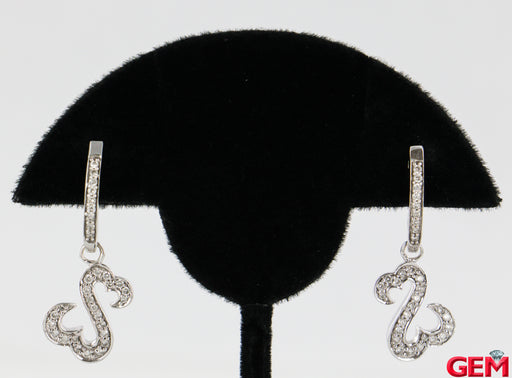 JWBR Jane Seymour 14k 585 White Gold Diamond Double Open Heart Earrings Kays - Pre-Owned for sale at Gem Pawn