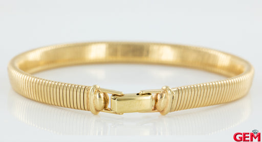 "Vintage Tiffany & Co Retro 14k 585 Flexible Bracelet Snake 9"" Yellow Gold - Pre-Owned for sale at Gem Pawn"
