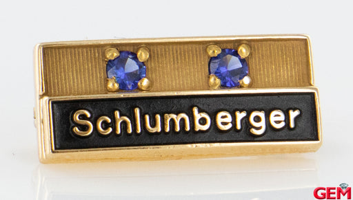 Schlumberger 14k 585 Yellow Gold Title Lapel Pin Brooch - Pre-Owned for sale at Gem Pawn
