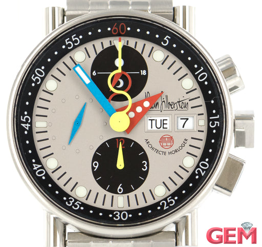 Alain Silberstein Krono Bauhaus LWO 5100 Men's Stainless Steel Watch - Pre-Owned for sale at Gem Pawn