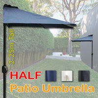 Half Size Compact Garden Umbrella (3 Colours)
